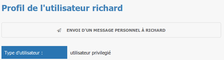 Envoi de message personnel